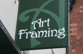 Art framing hanging sign