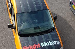 bright motors caddy van wrap roof